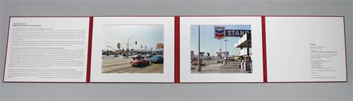 "The La Brea Matrix. Photographs by Stephen Shore. The Lapis Press, 2011. Unpaged, Two color prints, 11x14""."