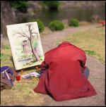 Hiroshi Watanabe: Painter, Moranbong Park, North Korea