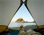 Mark Klett: View from the Tent at Pyramid Lake, NV, 2000