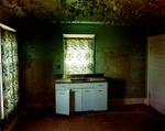 Steve Fitch: Kitchen in a house in Carlyle, eastern Montana, June 8, 2000
