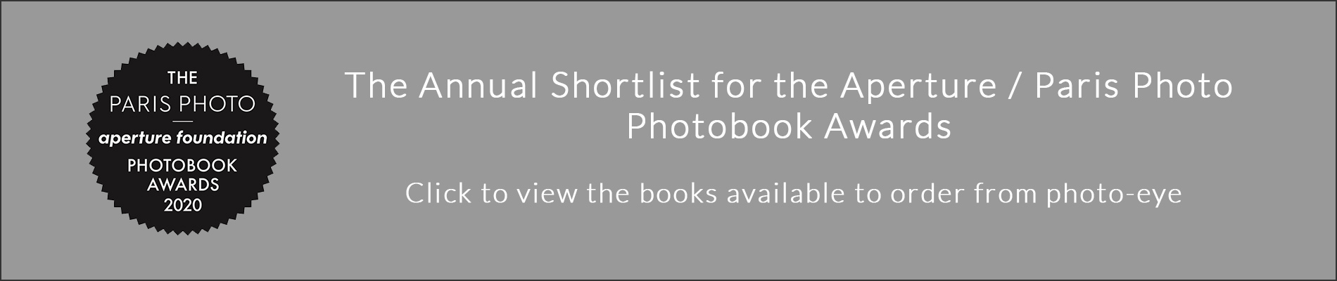Aperture Shortlist Available From photo-eye